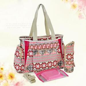 5p Multifunction Women Mummy Baby Diaper Nappy Tote Shoulder Bag Handbag Pad