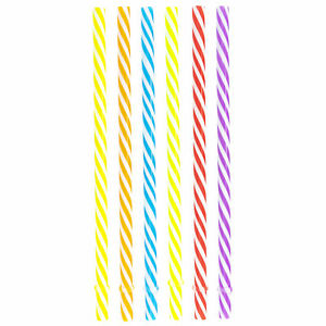 792c335ffc Details about MULTICOLOR DRINKING REUSABLE STRAWS 7.5