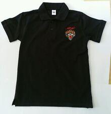 ED HARDY Boy's Black JOSH TIGER polo T shirt Size Large  L 11 12 years BRAND NEW