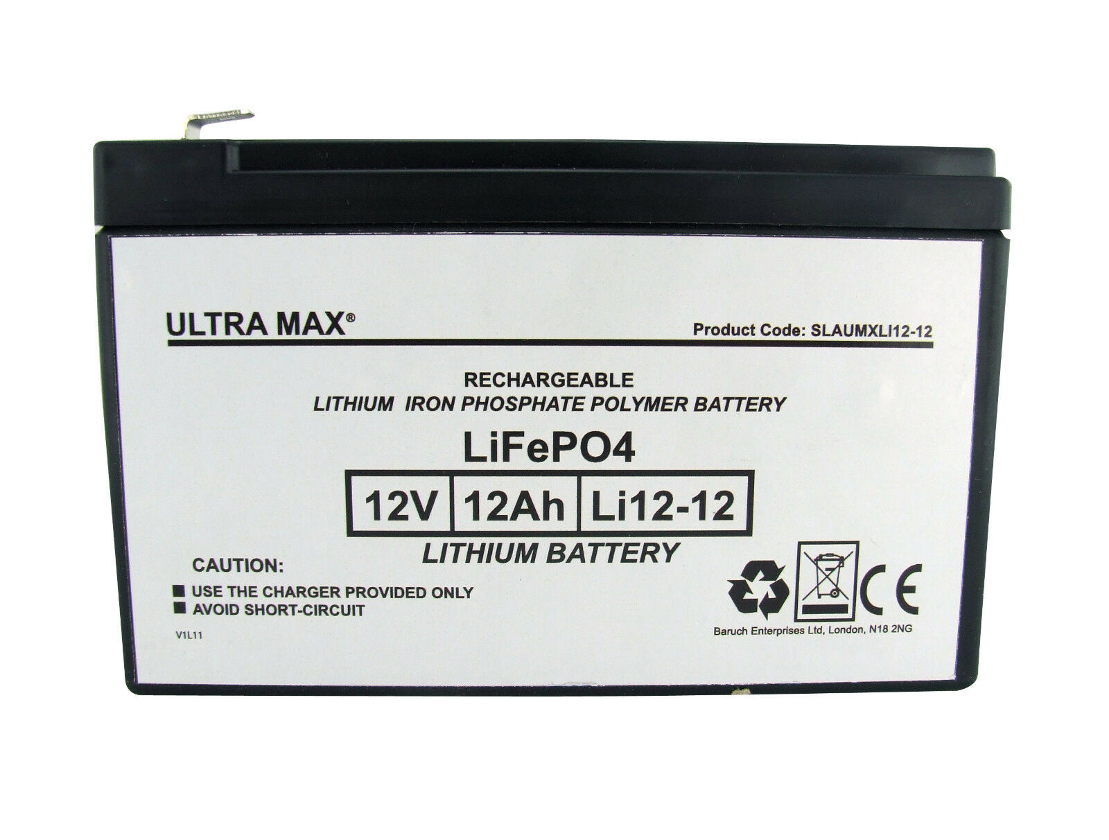 Ultramax Litio LiPo 12V 12AH come 15Ah Esca Barca Batteria  45% More Time