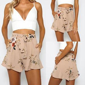 damen shorts kurzhose hosenrock sommer hosen minirock minikleid hotpants bermuda ebay. Black Bedroom Furniture Sets. Home Design Ideas