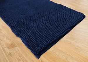 Tappeto blu cotone cm arredo bagno moderno