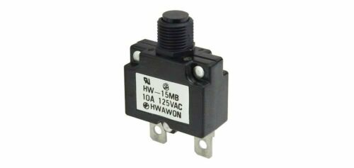 125Vac resettable Panel Mount 10 AMP CIRCUIT BREAKER Hwawon HW-15MB