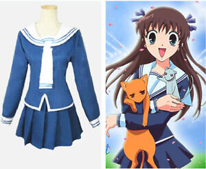 Fruits Basket Tohru Honda Halloween Cosplay Costume Free ... Tohru Fruits Basket Outfits