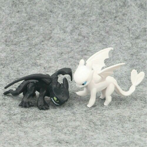 12x How To Train Your Dragon Light Night Fury Toothless Action Figure Doll