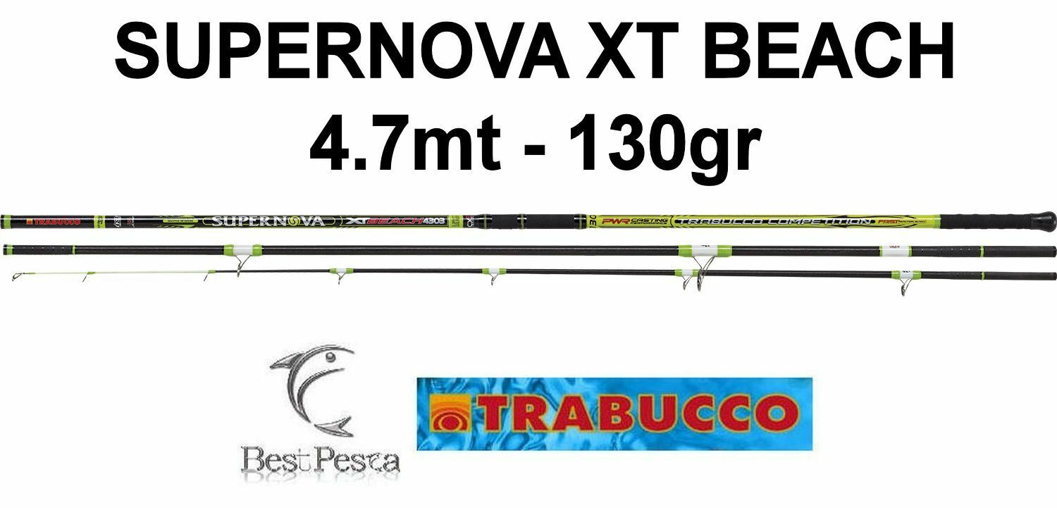 Canna da Beach Ledgering - Trabucco SUPERNOVA XT BEACH - 4,7mt - 130gr