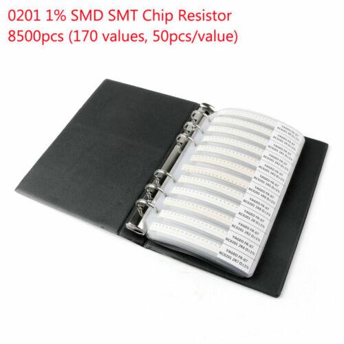 1x SMD Smt Chip Widerstand 170 Werte Muster Buch Ordner Sortiment Zubehör