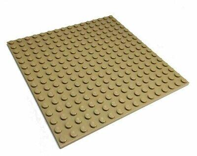 1x Lego Construction Plaque Beige Tan 16x16 à Deux Faces Jouables 4611414 91405