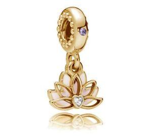 db432c157 Image is loading Genuine-PANDORA-Serene-Lotus-Flower-Charm-Pendant-14K-
