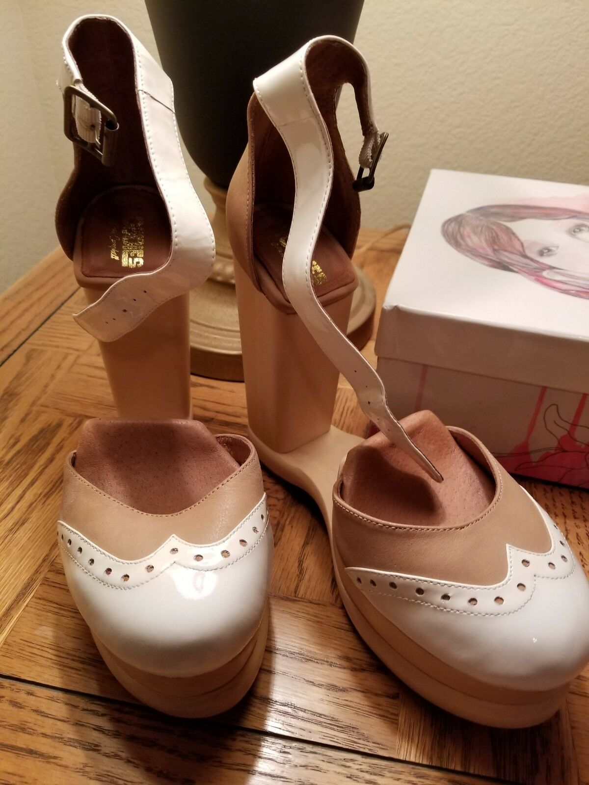 Jeffrey campbell NEW Bus Stop Size 8 archless wood heels