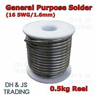 500g Reel 1.6mm 16awg 60/40 Tin Lead Fluxed Core Solder Wire. Sn/Pb Soldering