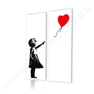 Balloon-Girl-by-Banksy-Ready-to-hang-canvas-2-Panels-Wall-art-print-HD