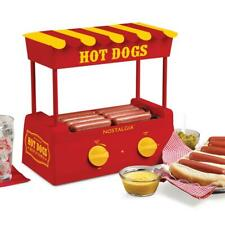 Nostalgia Hot Dog Roller Warmer Adjustable Heat Settings Grill Countertop Grill