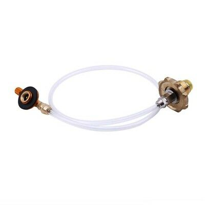 Gas Propane Flat Tank Refill Outlet Adapter Connector Fit for Camping Stove