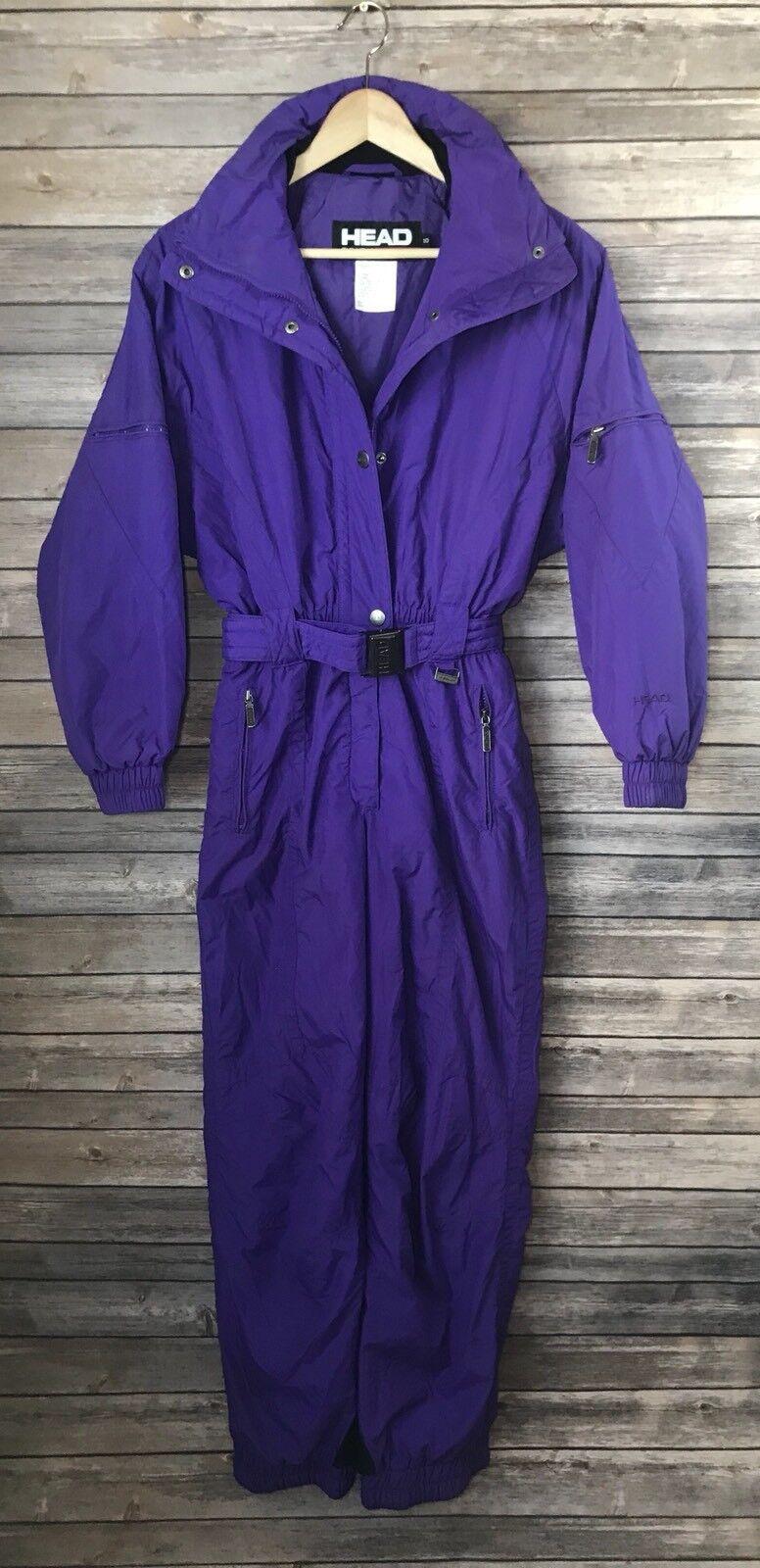 Vtg 80s 90s HEAD Women's Snow bunny Purple Retro  Ski Snow Suit 12 Winter  shop online today