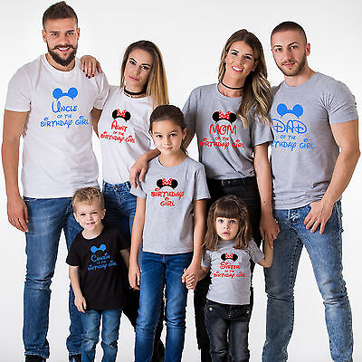 Birthday Family Shirts Matching B-Day Outfits Kids Tees Cute Family Clothes