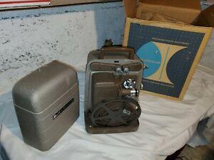 Vintage Bell & Howell Model 253 AX 8mm Film Projector W/ Box PLEASE READ DESCRIP
