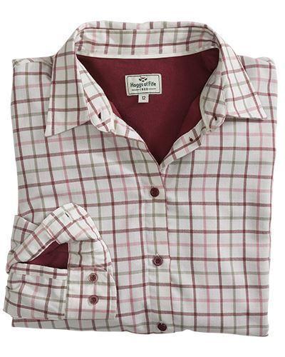 Cream//Apple Hoggs Erin Ladies Jersey Lined Shirt