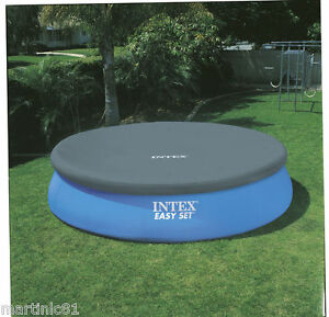 Intex easy set pool cover 8ft 10ft 12ft round swimming for Paddling pool filter