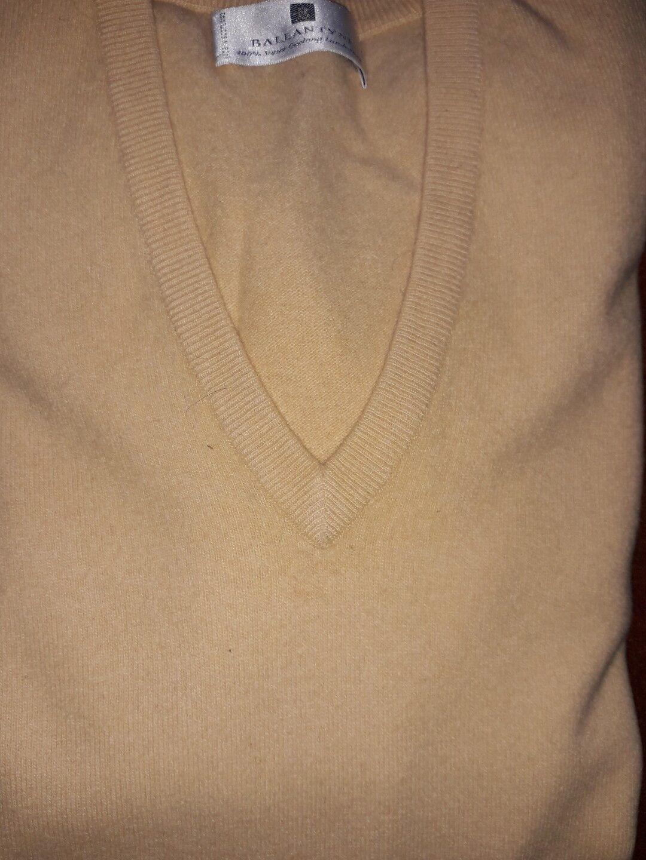 Pullover maglione Ballantyne maglia pura lana lambswool M giallo originale