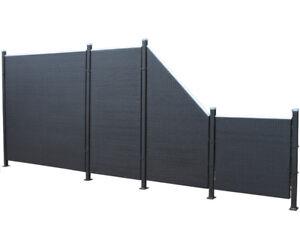 Poly Rattan Sichtschutz Zaun Set 9 Teilig Schwarz Von Prime Tech