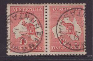 Tasmania-NUBEENA-postmark-on-1d-Kangaroo-pair-1914