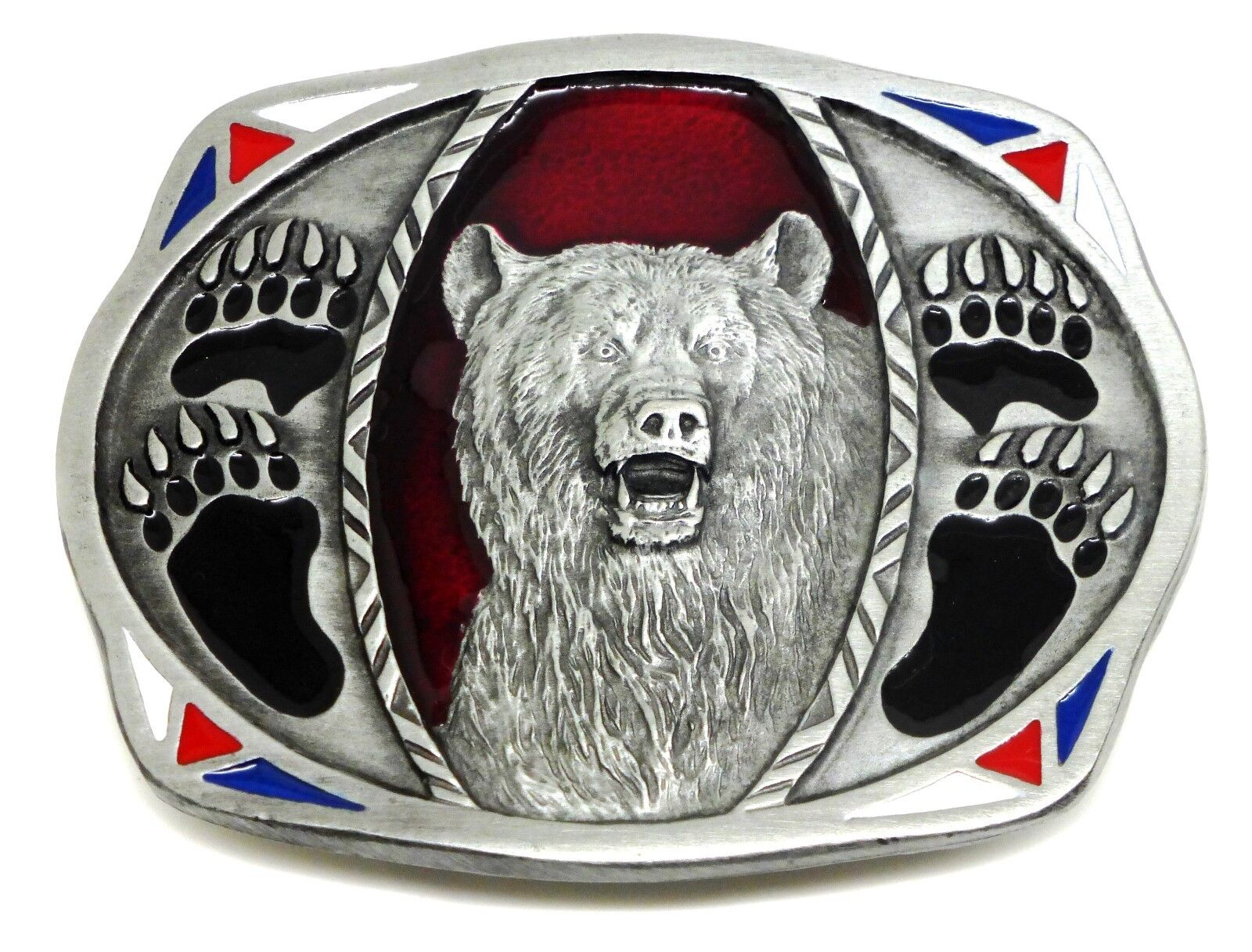 Bear Belt Buckle American Western Theme Paw Claw Authentic C & J Buckles Product