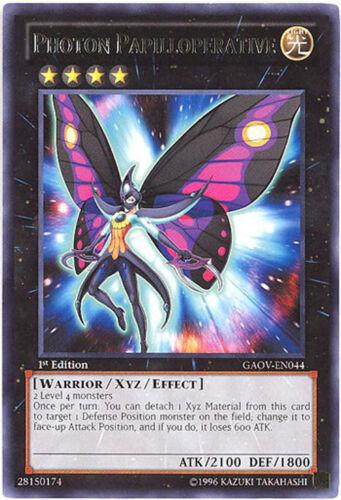 3 x Yu-Gi-Oh Card GAOV-EN044 - NM//Mint rare PHOTON PAPILLOPERATIVE