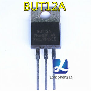 10Pcs-BUT12A-TO-220-Silicon-diffused-power-transistors-new