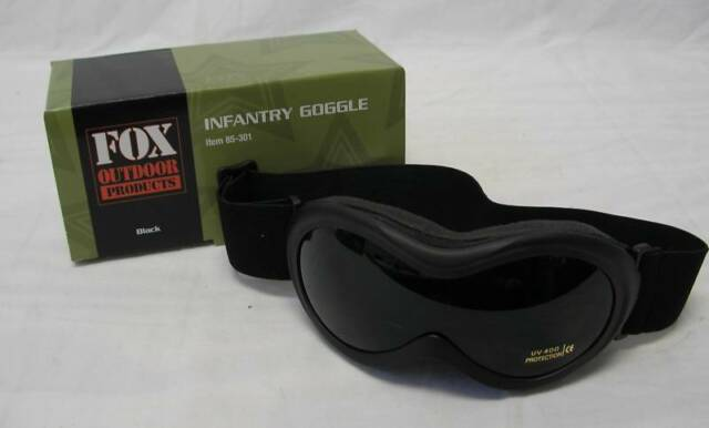 NEW - Military Tactical Army INFANTRY Shatterproof UV rated GOGGLES - SWAT BLACK