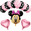 Disney-Minnie-Mouse-Birthday-Balloons-Foil-Latex-Party-Decorations-Gender-Reveal thumbnail 2