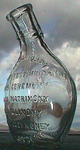 FIGURAL whiskey nipper TEDDY'S PET - BABY NURSING bottle joke on ROOSEVELT