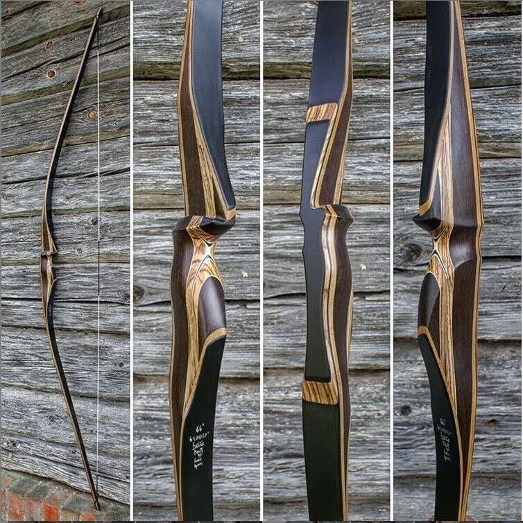 Hecho a mano tradicional arco 64 @28'' Langbogen Bambú & extremidades de Cochebono