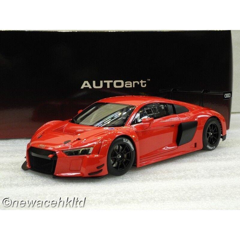 AUDI R8 LMS PLAIN Coloreee VERSION (rosso) AUTOart MODEL 1 18  81601