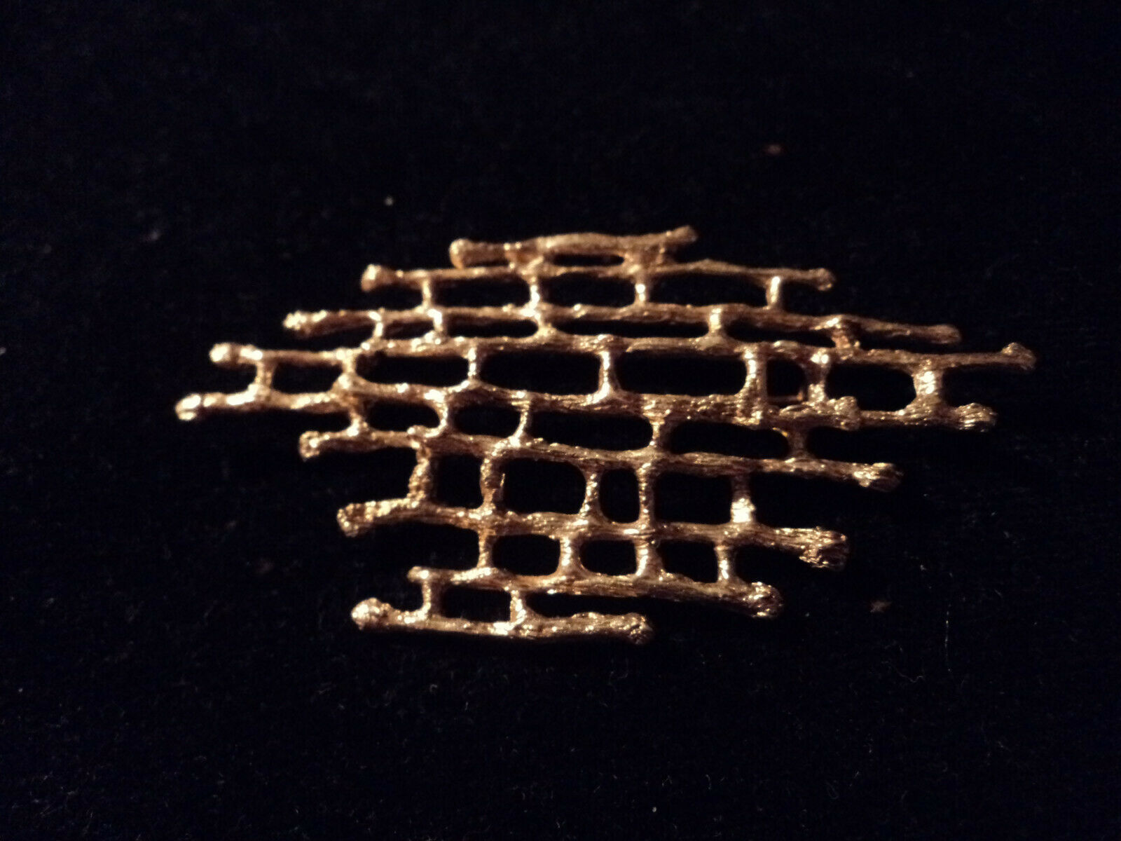 Handmade 10 K Y gold  Bambo brooch acid tested 1… - image 1