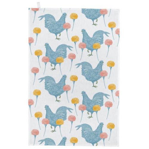 NEW Thornback /& Peel Chicken /& Carnation Tea Towel