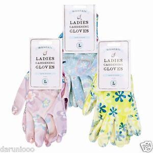 Mesdames-jardin-Gants-de-jardinage-coton-imprime-fleur-latex-soutenu-lavable-S-M-L