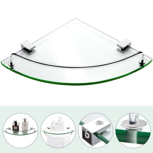 Bathroom Tempered Glass Corner Shelf Vdomus Stainless Steel Shower Shelf