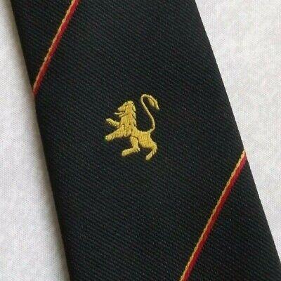Vintage Cravatta Da Uomo Cravatta Crested Club Associazione Società Gold Lion Crest Black-mostra Il Titolo Originale