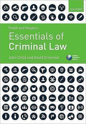 1 of 1 - Smith & Hogan's Essentials of Criminal Law by John Child, Professor David Ormero