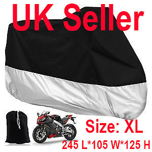 Motorcycle-Waterproof-Outdoor-Vented-Motor-Bike-Scooter-Dust-Rain-Cover-XL-UK