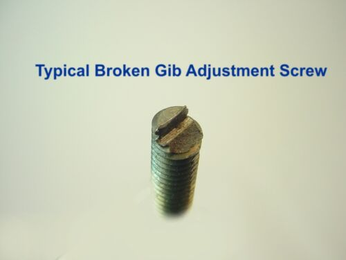 "Impossible to Find!! New Gib Adjustment Screws for 9/"" /& 10k South Bend Lathes"