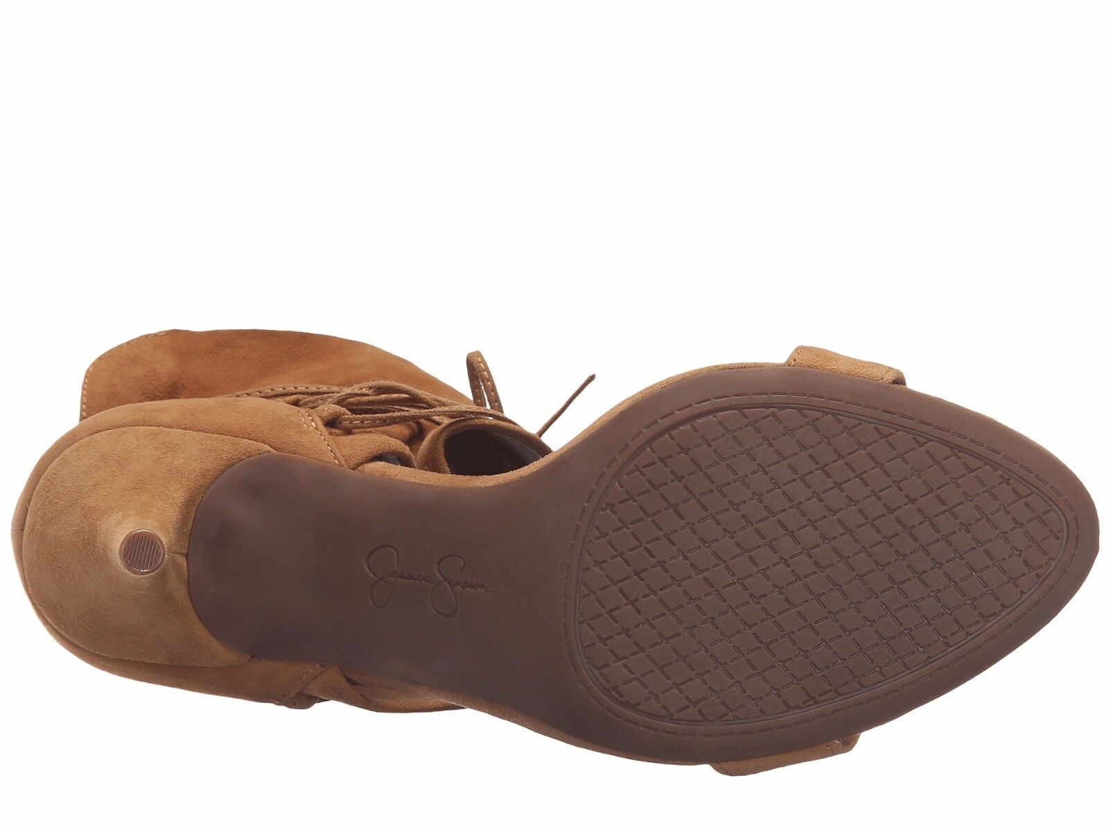 Women's Jessica Simpson Madeena Lace-Up Pumps, Sizes 5.5-7.5 5.5-7.5 5.5-7.5 Honey Brown Suede a85d73