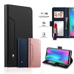 Coque-Pour-Samsung-Galaxy-Note-10-10-Plus-Housse-cuir-PU-cartes-fentes-miroir