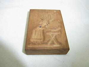 Details About Vintage German Wooden Springerle Cookie Mold Bird Women X5