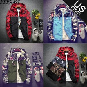 Men-039-s-Waterproof-Windbreaker-Zip-Jacket-Hoodie-Light-Sports-Riding-Outwear-Coat