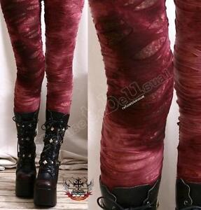 Punk-Decay-Distressed-Broken-Hole-Burnout-Bloody-Tie-Dye-Mummy-Legging-S-M-L-XL