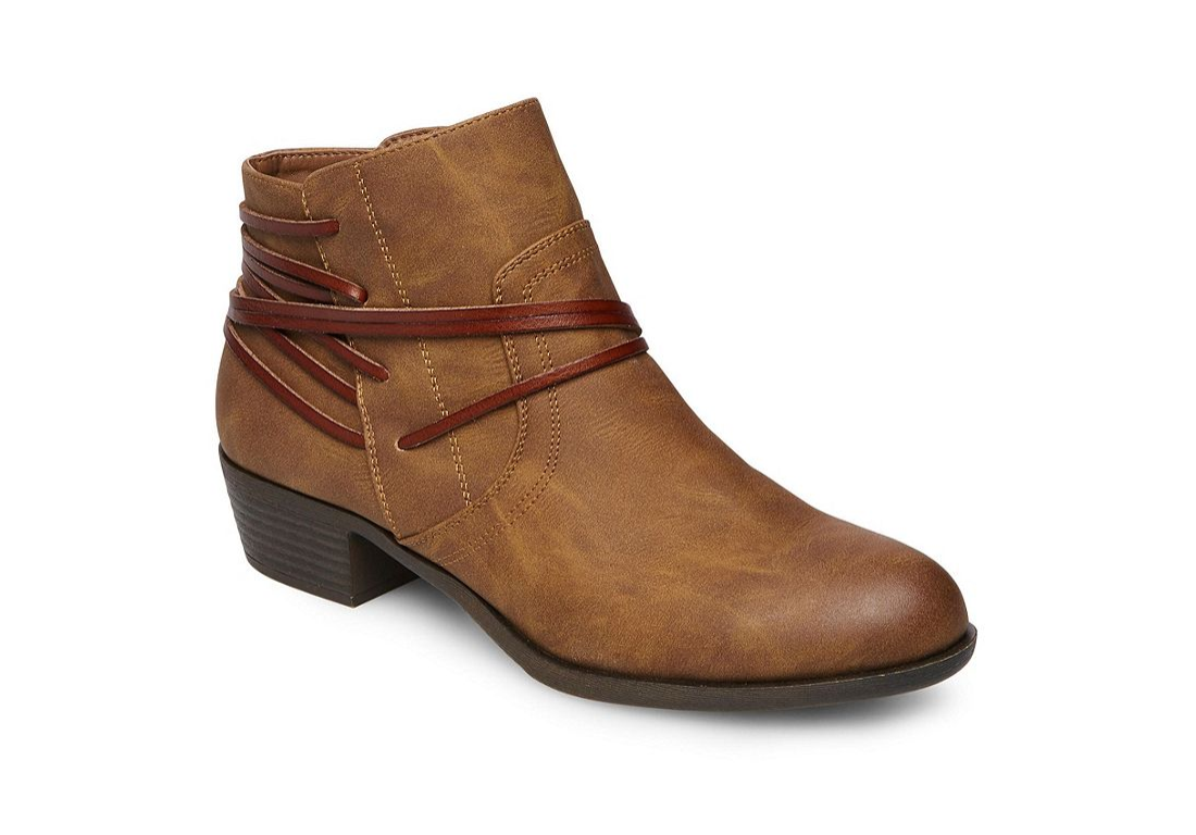 NEW MADDEN GIRL BECOME COGNAC ANKLE BOOTIES BOOTS WOMENS 8