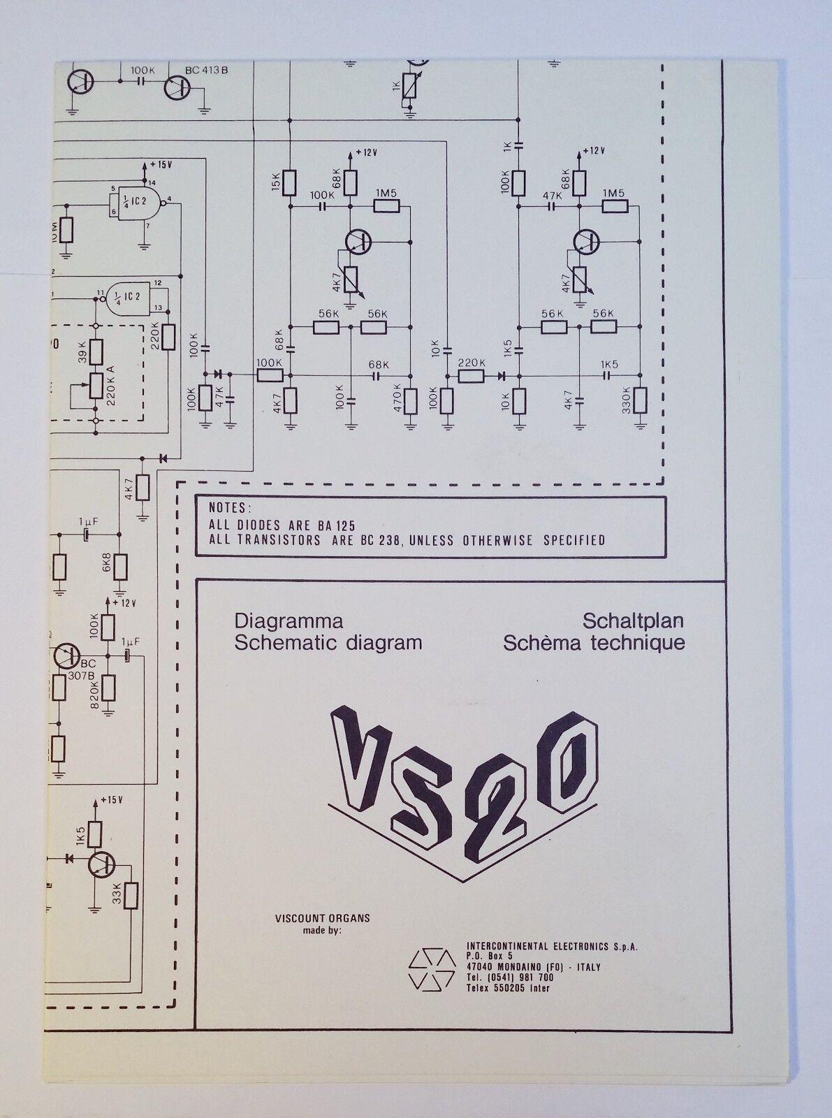 Hammond B Schematic Diagrams on