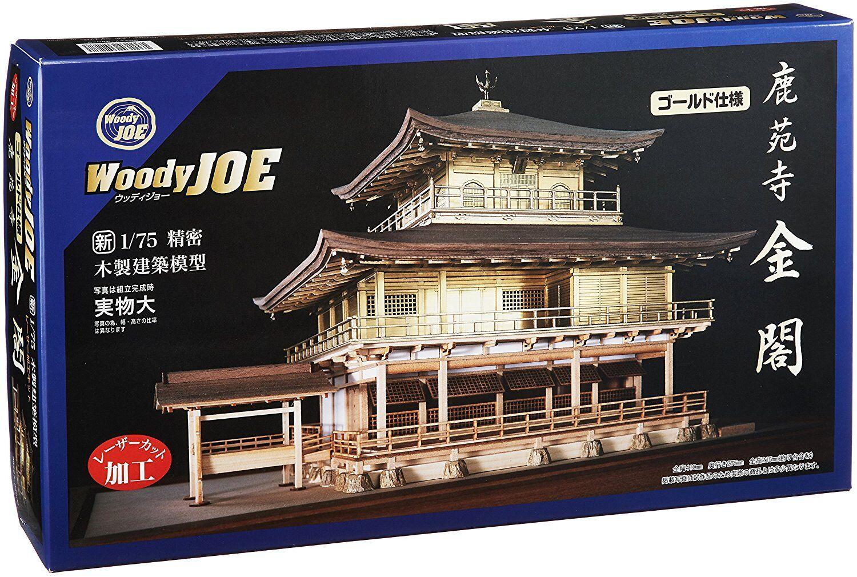 Woody Joe 1 75 Rokuonji Kinkaku oro Versione  Legno Mini Kit modellolololo Giappone  risparmia fino al 30-50% di sconto